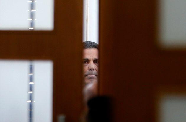 Ο Γκονέν Σεγκέβ, κάποτε μέλος του υπουργικού συμβουλίου του Ισραήλ, που καταδικάστηκε με την κατηγορία της κατασκοπείας  υπέρ του Ιράν. Εδώ στο δικαστήριο, στα Ιεροσόλυμα, Φωτογραφία αρχείου, 5 Ιουλίου 2018. (Photo by RONEN ZVULUN / POOL / AFP)        (Photo credit should read RONEN ZVULUN/AFP via Getty Images)