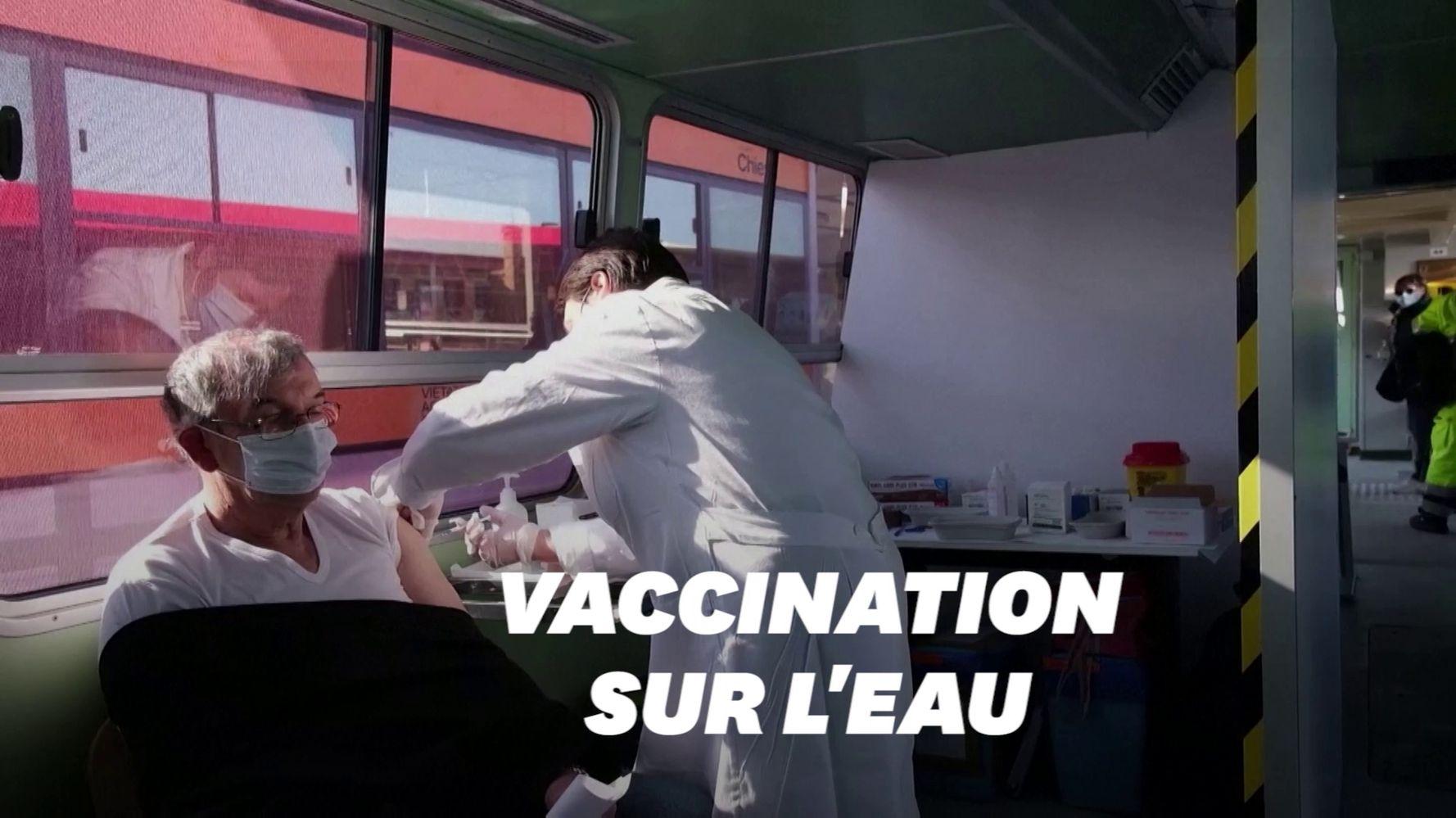À Venise, même les vaporettos sont réquisitionnés pour la vaccination