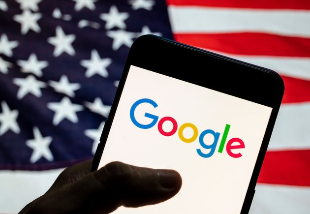 CHINA - 2021/04/02: In this photo illustration the American multinational technology company and search...