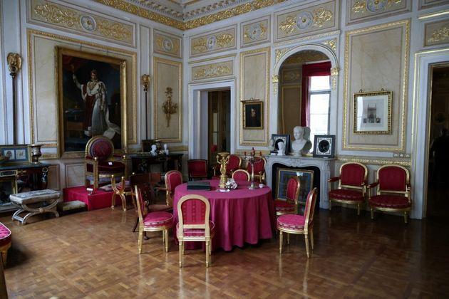 Cette photo montre l'intérieur du Palais Vivienne, où Pierre-Jean Chalençon est accusé d'organiser des...