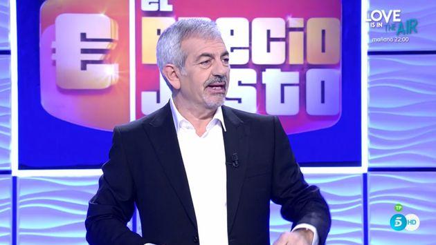 Carlos Sobera en el estreno de 'El precio