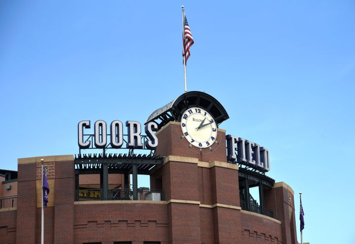 Coors Fields in Denver, Colorado is the home stadium for the Colorado Rockies Major League Baseball team.