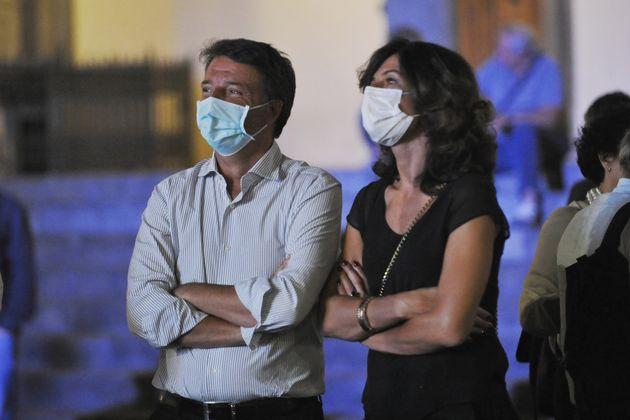 FLORENCE, ITALY - SEPTEMBER 18: Former Italian Prime Minister Matteo Renzi and Italia Viva leader (C)...