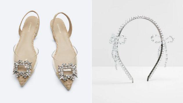 Zapatos de Uterqüe y diadema de Simone Rocha para H&M.