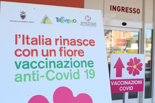 04/04/2021 Pergine Valsugana, centro vaccinazioni