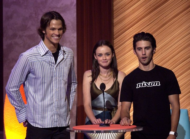 Jared Padalecki, Alexis Bledel and Milo Ventimiglia present at the 2003 Teen Choice Awards.