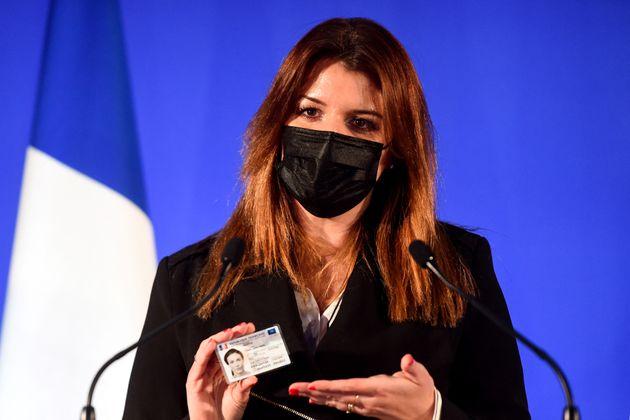 Photo d'illustration : Marlène Schiappa présentait la nouvelle carte d'identité numérique le 16 mars...