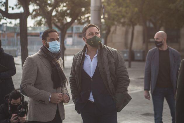 Santiago Abascal e Ignacio Garriga en un acto en