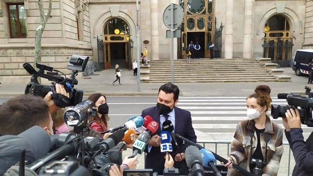 El abogado Jorge Albertini, que representa a la víctima de la violación múltiple de 'la manada de Sabadell',...