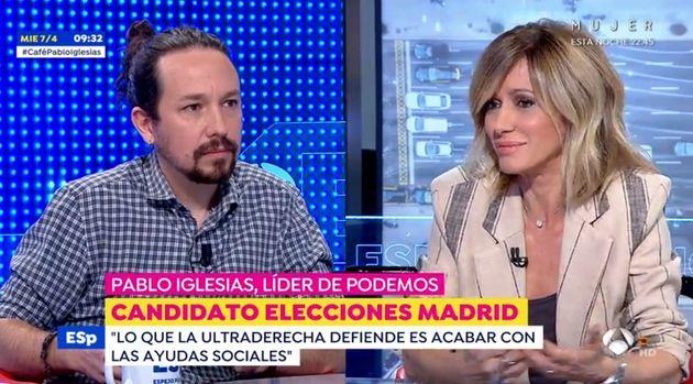 Pablo Iglesias con Susanna Griso en 'Espejo