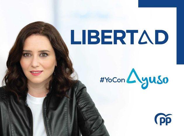 Cartel de campaña de Isabel Díaz Ayuso para las elecciones madrileñas del 4 de