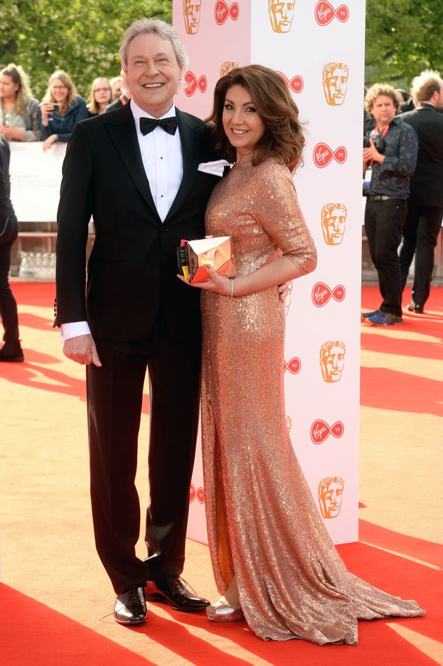 Eddie Rothe and Jane McDonald pictured at the TV Baftas in