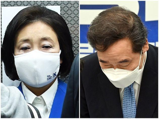 박영선 더불어민주당 서울시장 후보, 이낙연 더불어민주당