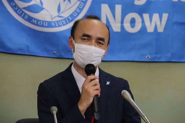 日本ウイグル協会のレテプ・アフメット副会長