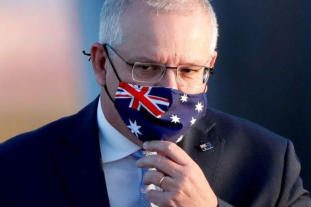 Le premier ministre australien Scott Morrison (ici à Tokyo en novembre 2020) a annoncé une nouvelle législation...