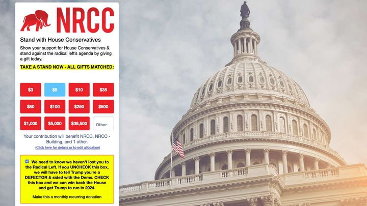 NRCC Uses Menacing Message About Trump To Push Republicans Into Repeat Donations