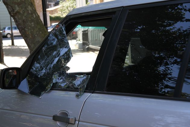 El cristal de un coche