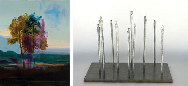 Olivier Masmonteil, Sans Titre, 2020, Huile sur toile, 55 x 46 cm I Laurence Bonnel, Foule 11 silhouettes,...
