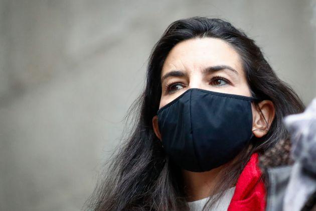 La líder de Vox, Rocío Monasterio, el pasado 6 de diciembre en