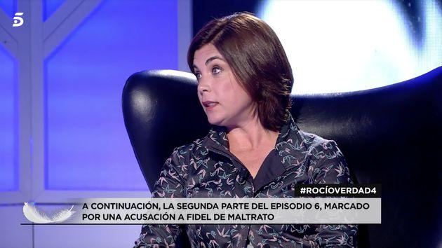 Samanta Villar en plató tras la emisión del documental de Rocío Carrasco en