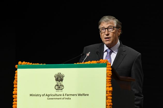 Co-chair and Trustee of the Bill and Melinda Gates Foundation, Bill Gates, speaks to the gathering during...