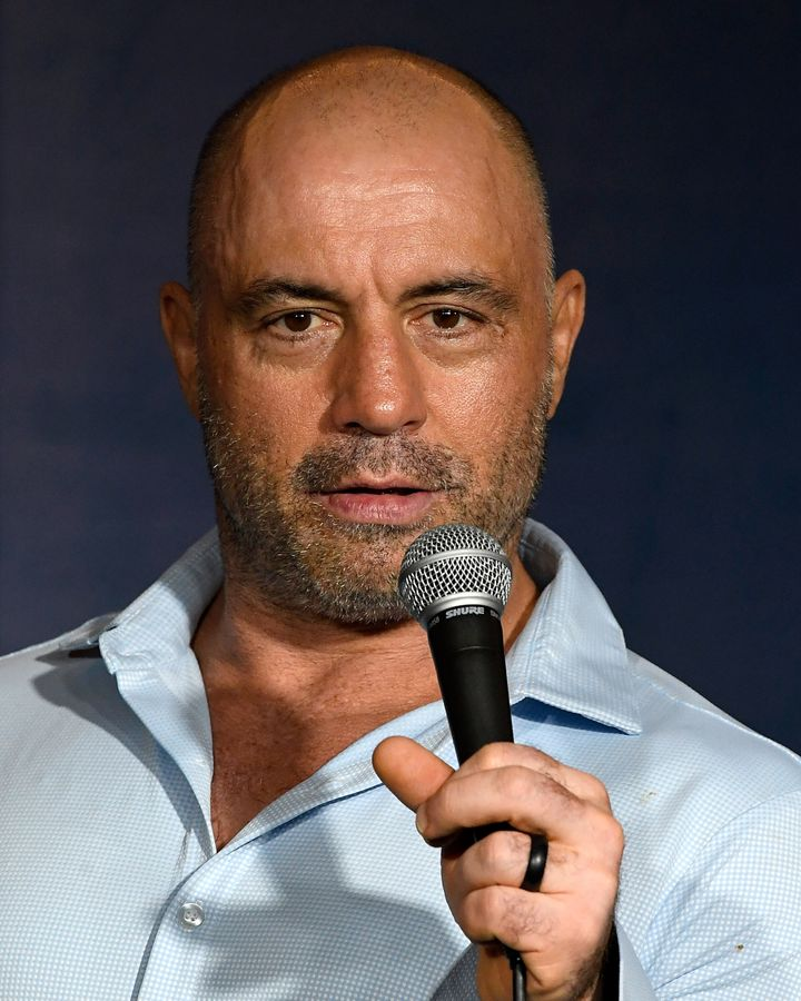 Comedian Joe Rogan performs at The Ice House Comedy Club on April 17, 2019, in Pasadena, California.