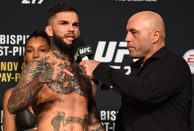 Rogan, who has also done UFC commentating, interviews Cody Garbrandt Madison Square Garden in
