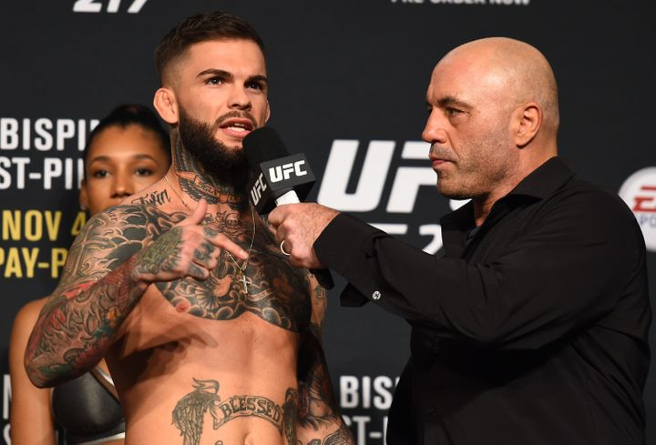 Rogan, who has also done UFC commentating, interviews Cody Garbrandt Madison Square Garden in 2017.