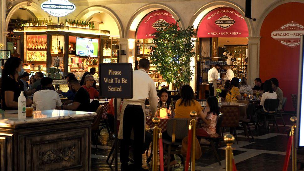 Un restaurant en intérieur au Venetian, le 6 avril