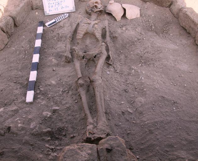 Un squelette humain découvert dans la ville ensevelie