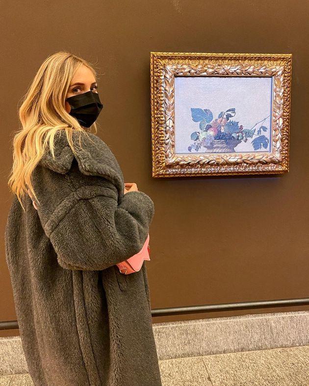 05/02/2021 Milano, la visita di Chiara Ferragni anticipa la riapertura al pubblico della Pinacoteca,...
