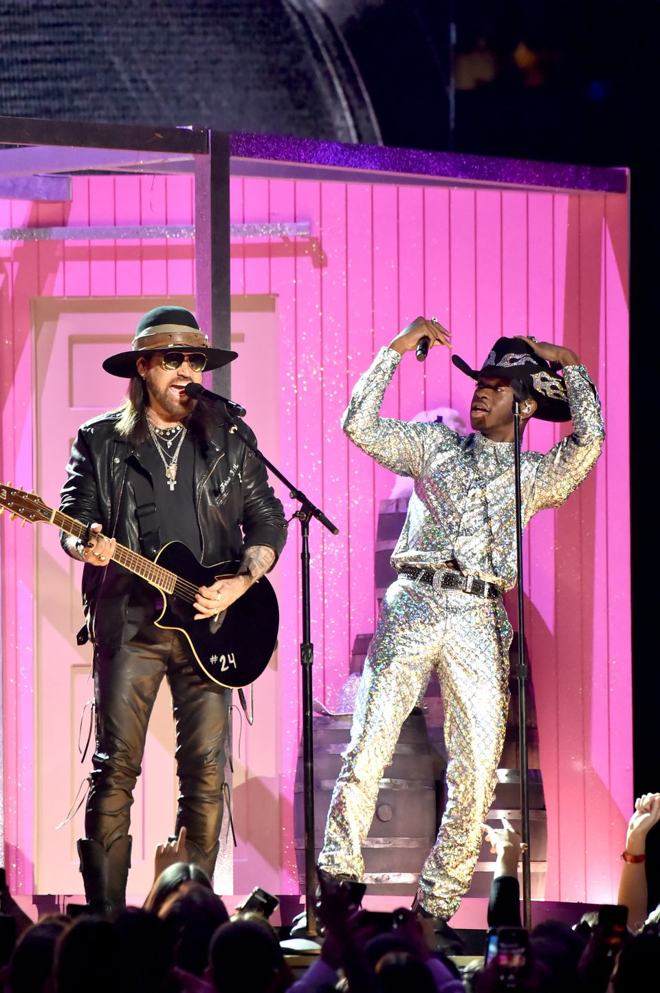 Lil Nas X and Billy Ray Cyrus preform onstage during the 62nd Annual GRAMMY Awards in