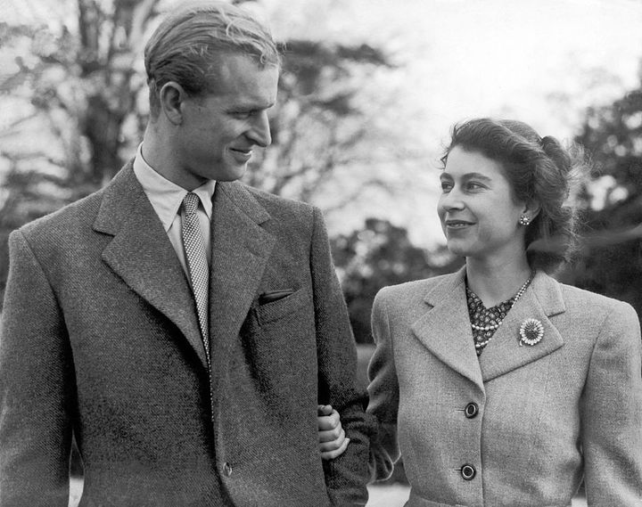 La reina Isabel y el duque de Edimburgo durante su luna de miel