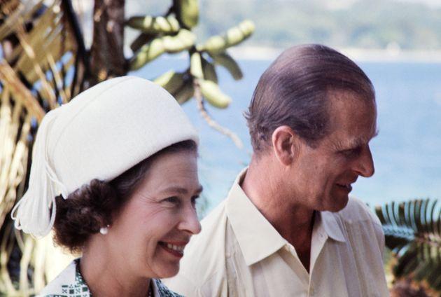 Le couple royal, lors de leur visite en