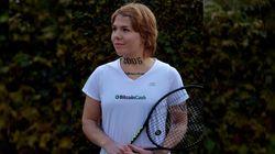 Cette joueuse de tennis vend une partie de son bras comme espace