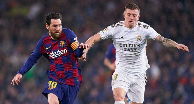 Leo Messi y Toni Kroos, en el último 'clásico' en el