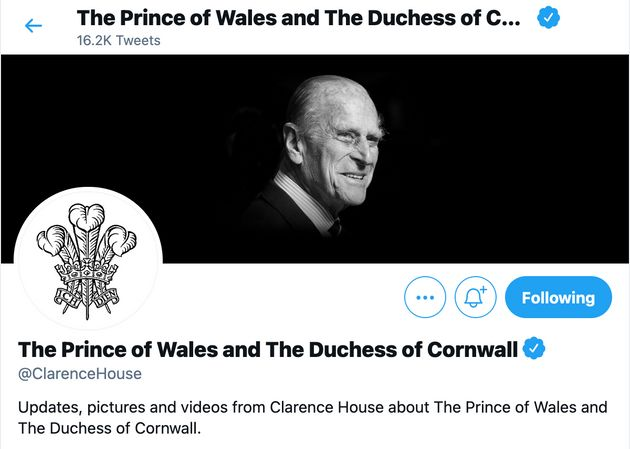 Prince Charles and Camilla, Duchess of Cornwall's Twitter account changed as