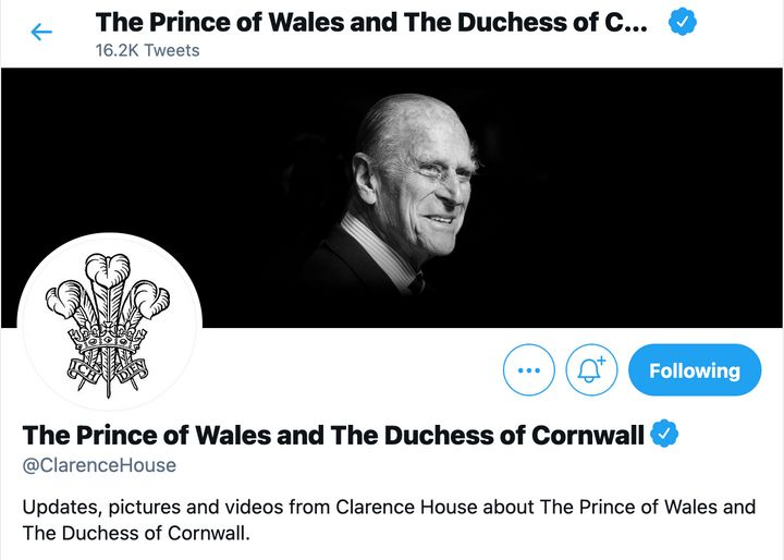 Prince Charles and Camilla, Duchess of Cornwall's Twitter account changed as well.