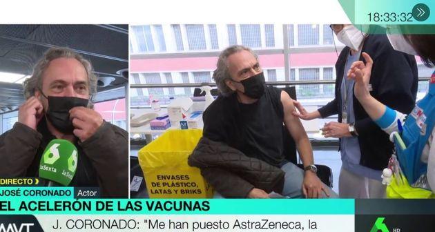 José Coronado, vacunándose en