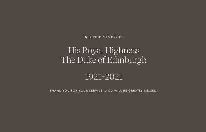 Homenaje de los duques de Sussex a Felipe de Edimburgo