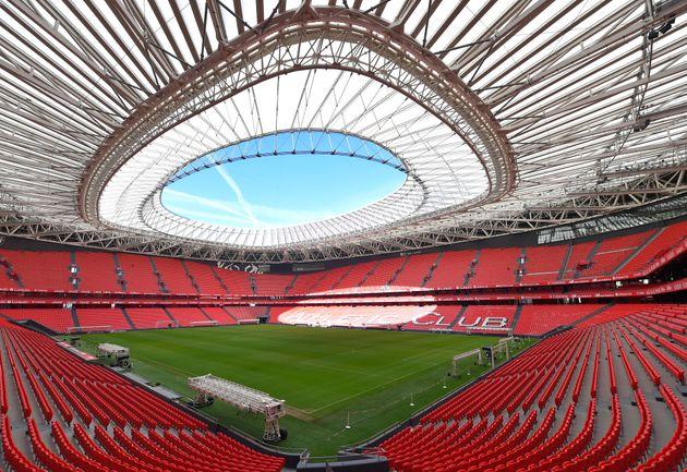 Photo du stade San Mames à Bilbao le 7 février