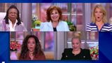"The cast of ""The View"" was shocked from Whoopi Goldberg's NSFW sugggestion."