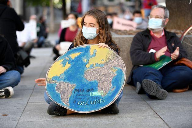 Protesta durante la huelga mundial por el clima el 25 de septiembre de