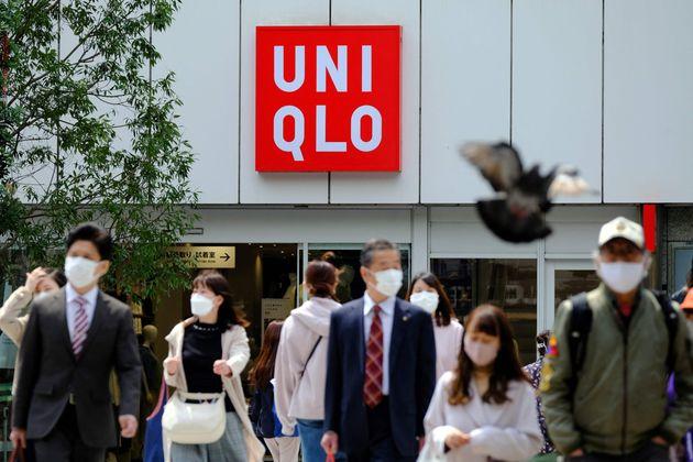 ユニクロの店舗(東京=2021年4月8日撮影)