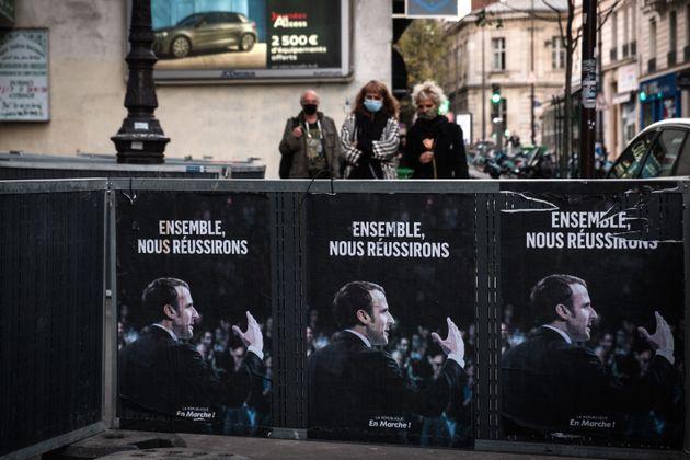 Des affiches de la République en Marche placardées dans Paris au mois de novembre 2020