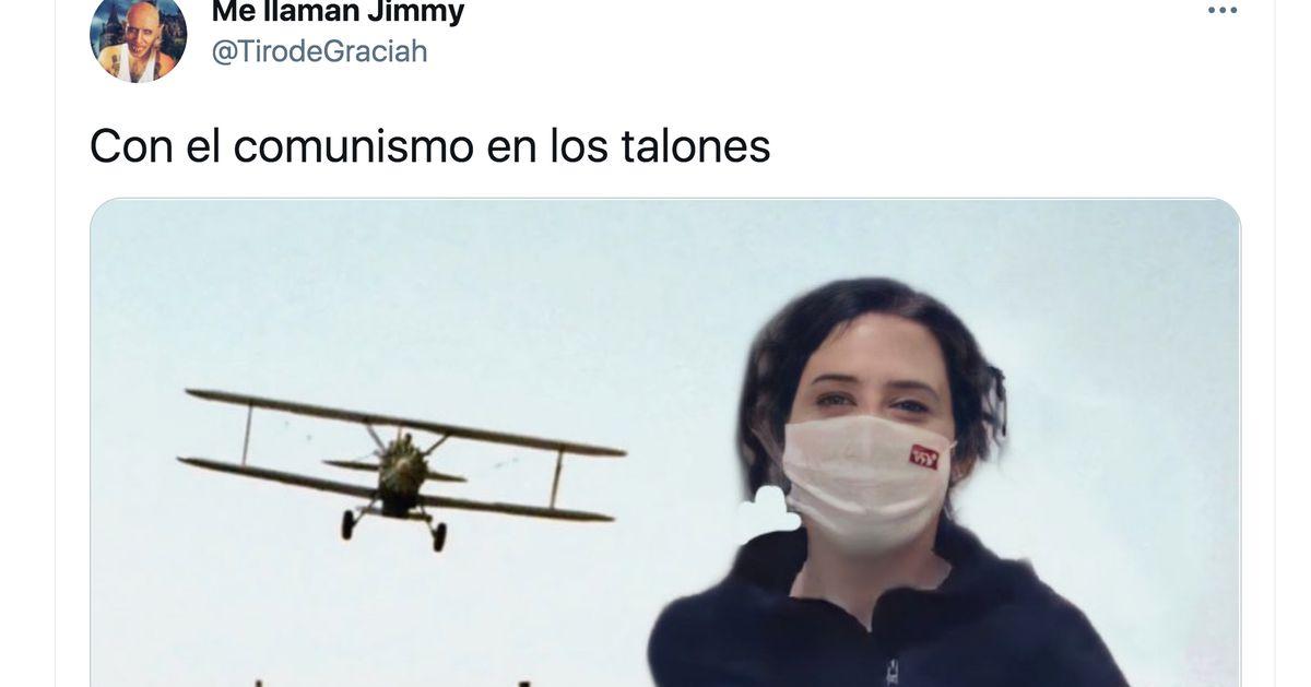 De Forrest Gump a Benny Hill: los mejores memes y tuits con el vídeo de Ayuso corriendo por Madrid