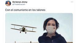 De Forrest Gump a Benny Hill: los mejores memes y tuits con el vídeo de Ayuso corriendo por