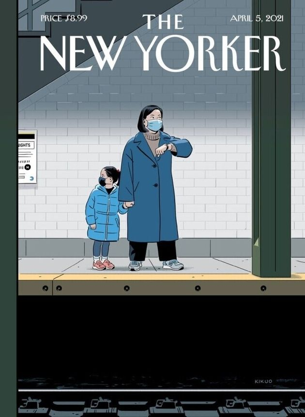 R. 키쿠오 존슨이 그린 미국 시사주간지 <뉴요커> 표지. 제목은