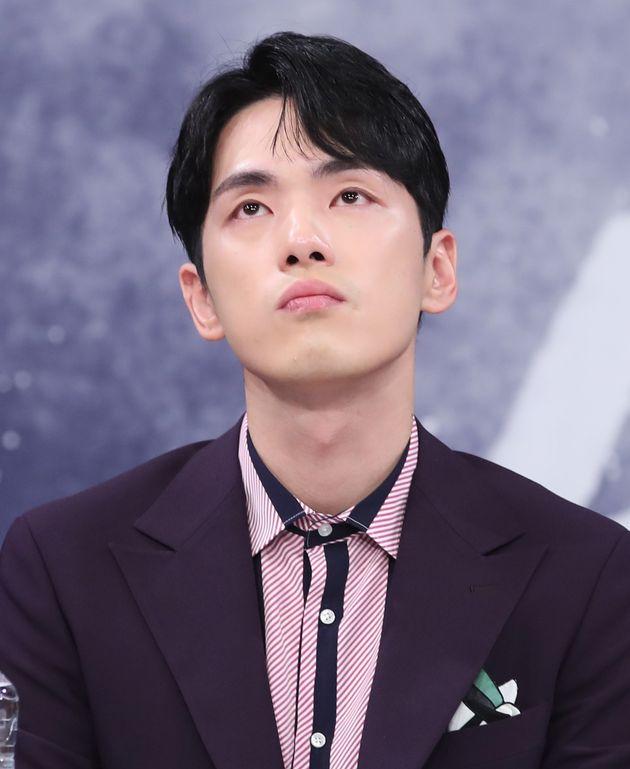 배우 김재현. 2018년 MBC 드라마 '시간' 제작발표회