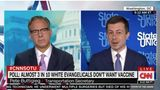 In an interview with CNN's Jake Tapper on Sunday, Transportation Secretary Pete Buttigieg implored white evangelicals reluctant to get vaccinated against COVID-19 to reconsider their stance.